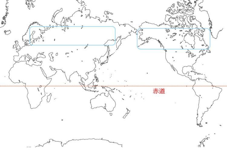 針葉樹林の世界の分布