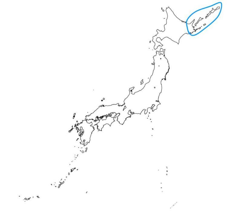 日本の針葉樹林の分布域を示す図